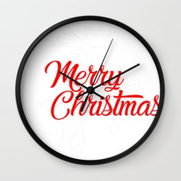 New Christmas Merry Christmas Flying Reindeer Wall Clock
