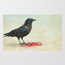 freedom  _ black crow Rug
