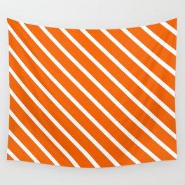 Pumpkin Diagonal Stripes Wall Tapestry