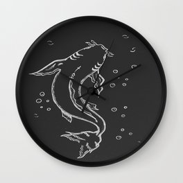 Japanese carp Koi Wall Clock