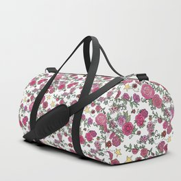 Project 52 | Pale Roses on White Duffle Bag