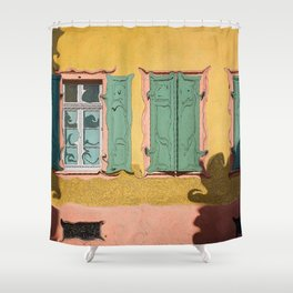 Windows Shutters And Shadows Shower Curtain