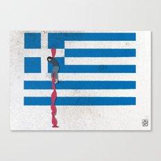 The Grexit scenario Canvas Print