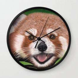 Red Panda Portrait 01 Wall Clock