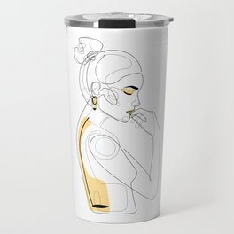 Lemon Girl Travel Mug