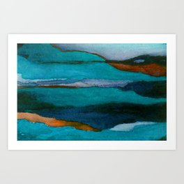 """""""a dark february redux1"""" abstract watercolor painting Art Print"""