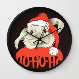 The Christmas Rabbit Wall Clock