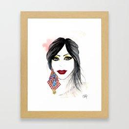 Girl with Jewelled Earring Framed Art Print