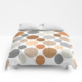Earth Tone Circlular Abstract Comforters