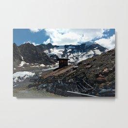 glacier end kaunertal alps tyrol austria europe Metal Print
