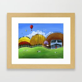 Hilly Heights Framed Art Print