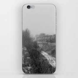 Winter LocomotionII Black and White iPhone Skin