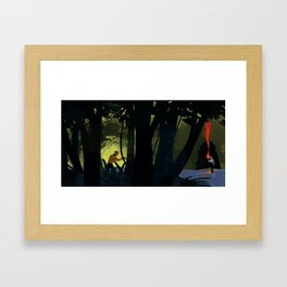 #1 Where No Man Has Gone Before - Beyond the forest into the cave Framed Art Print