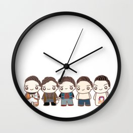 Five Seb Characters Wall Clock
