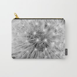 Black and white dandelion head Carry-All Pouch