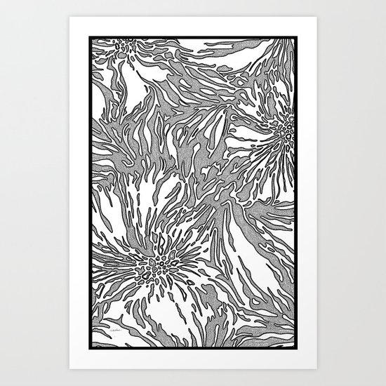 Animal Blossom Art Print