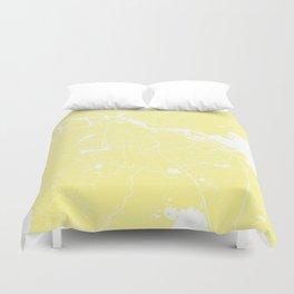 Amsterdam Yellow on White Street Map Duvet Cover