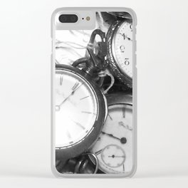 Forever in Time Clear iPhone Case