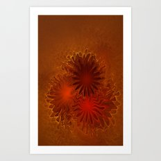 Fractal Flowers Art Print