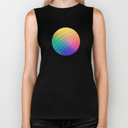 Spectrum Bomb! Fruity Fresh (HDR Rainbow Colorful Experimental Pattern) Biker Tank