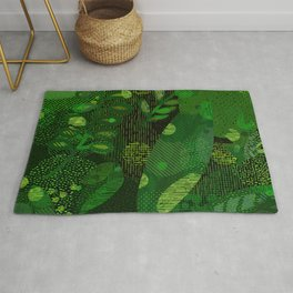 Green Jungle Layers 1 Rug