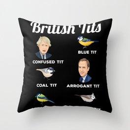 British Tits Funny Bird watching Gift Throw Pillow