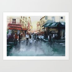 PARIS Street - Painting Art Print