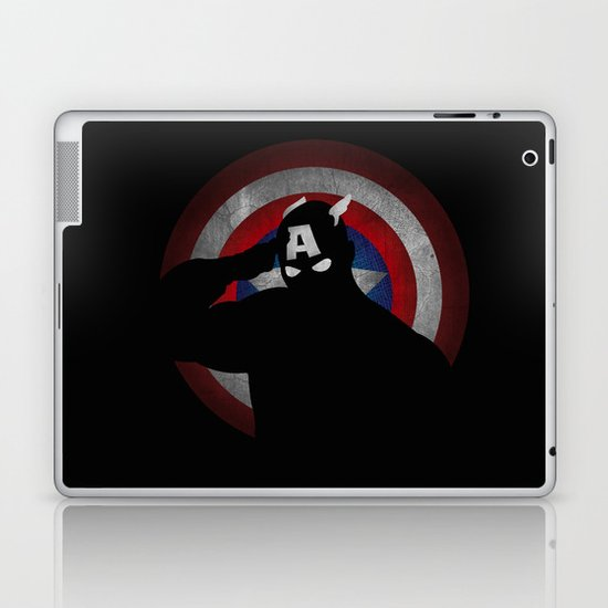 SuperHeroes Shadows : Captain America Laptop & iPad Skin