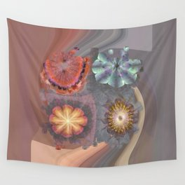 Absenters Intermixture Flower  ID:16165-065456-80170 Wall Tapestry