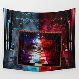 """""""The Choice:Red or Blue"""" by surrealpete Wall Tapestry"""
