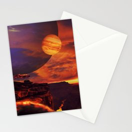 Spaceship tower Stationery Cards
