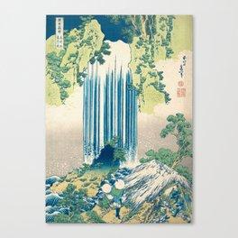 Katsushika Hokusa - Yoro Waterfall in Mino Province Canvas Print