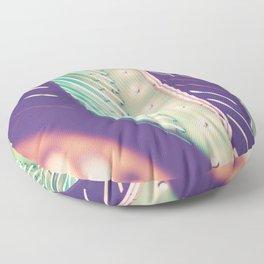 Turquoise Neon Floor Pillow