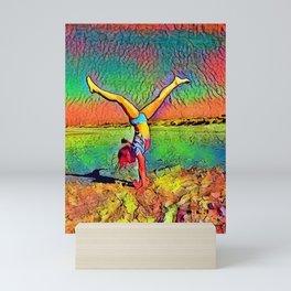The girl and the beach - 2 Mini Art Print