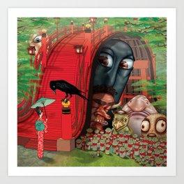 Fear of Crossing Bridges Art Print