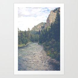 The Montana Collection - A River Runs Through It - Gallatin Canyon Art Print