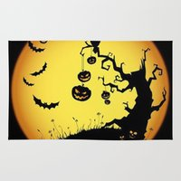scary Area & Throw Rugs featuring SCARY HALLOWEEN by Acus