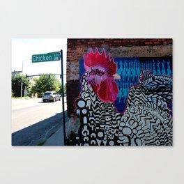 Chicken Alley Canvas Print