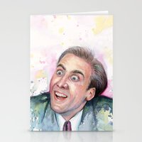 nicolas cage Stationery Cards featuring Nicolas Cage You Don't Say by Olechka