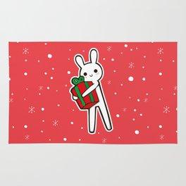 xmas bunny Rug
