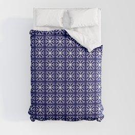 snowflake 14 For Christmas blue Comforters