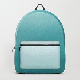 Aqua Teal Turquoise Watercolor Ombre Gradient Blend Abstract Art - Aquarium SW 6767 Backpack