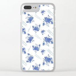 Cosmos on a Windy Day Clear iPhone Case