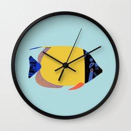 Yellow Fish Wall Clock
