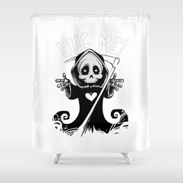 Cute Grim Reaper - Baby Death Wants a Hug! Shower Curtain