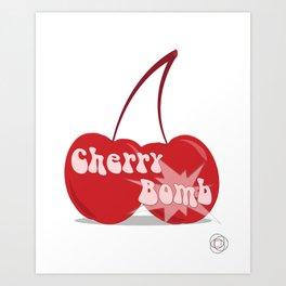 CherryBomb Art Print