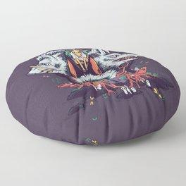 The Wolf Princess (Purple) Floor Pillow