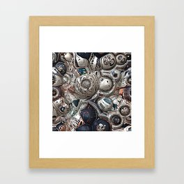 Three Dimensional Reflections Framed Art Print
