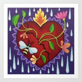 My fractured heart Art Print