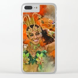 Carnival Queen Clear iPhone Case